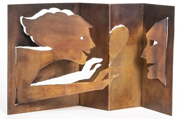 Kunstobjekt in der Praxis von Anke Hettinger-Schneider